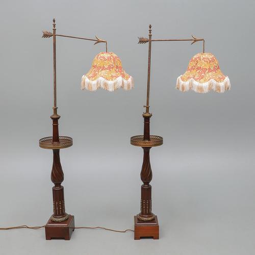 Pair of Dreyfous Mahogany & Ormolu Floor Standing Lamps in Louis XVI Style (1 of 12)