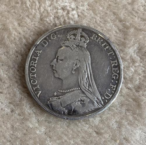 Silver Victorian Full Crown 1889 (1 of 3)