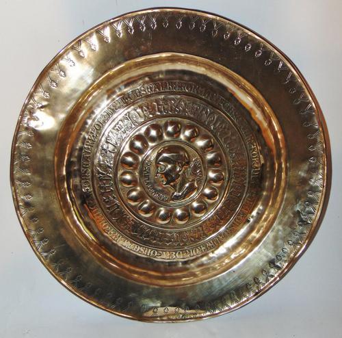 16th. century Nuremberg brass alms dish (1 of 6)