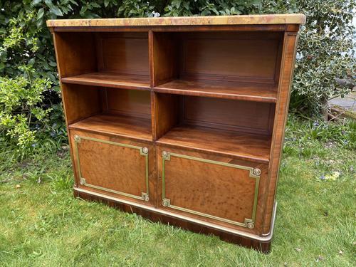 French Plum Pudding Mahogany Bookcase (1 of 8)