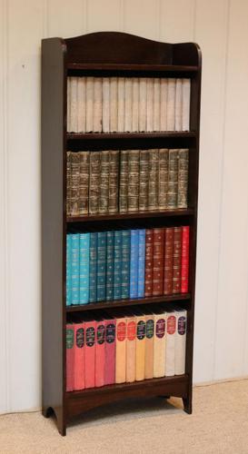 Slim Oak Open Bookcase (1 of 9)