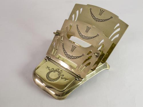 Antique 'Ges Gesch' Brass Letter Rack (1 of 6)