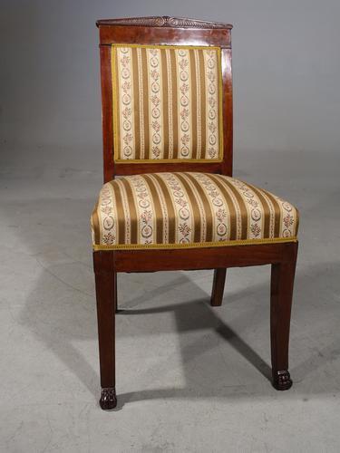 Good Mid 19th Century French Mahogany Framed Single Chair (1 of 4)