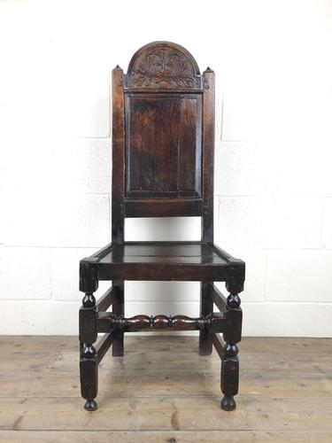 17th Century Carved Oak Side Chair (1 of 13)
