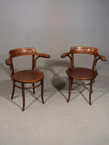 Pair of Early 20th Century Bentwood Desk Chairs (1 of 5)
