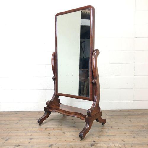 Antique Mahogany Dressing Mirror (1 of 11)