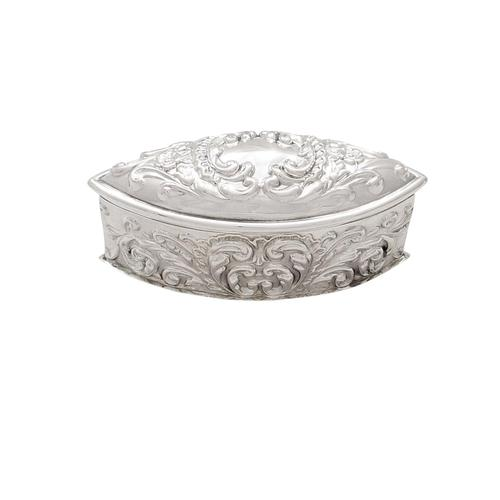 """Antique Victorian Sterling Silver 4 1/2"""" Trinket Box 1899 (1 of 9)"""