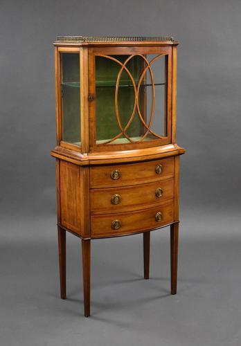 Edwardian Mahogany  Bowfront Display Cabinet (1 of 10)