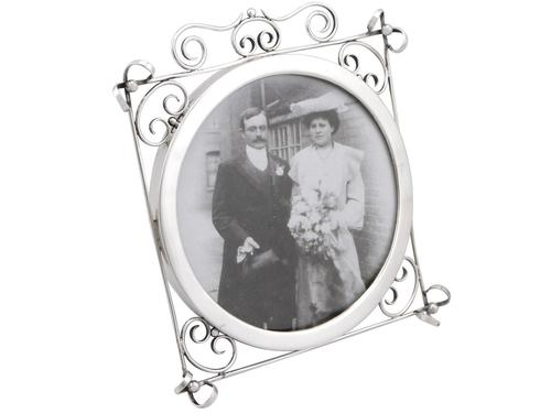 Sterling Silver Photograph Frame - Antique Edwardian 1905 (1 of 9)