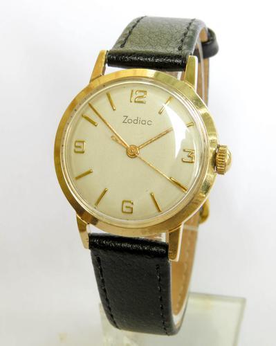 Gents 9ct Gold Zodiac Wrist Watch, 1959 (1 of 6)