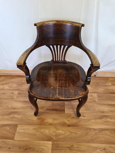 Oak Desk Chair (1 of 11)