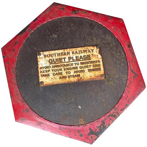 Large Heavy Rusted Cast Iron Railway Plaque Sign Train Notice (1 of 25)