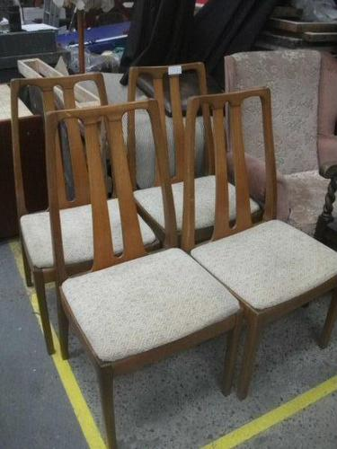 Set of 4 Retro Nathan Dining Chairs (1 of 3)