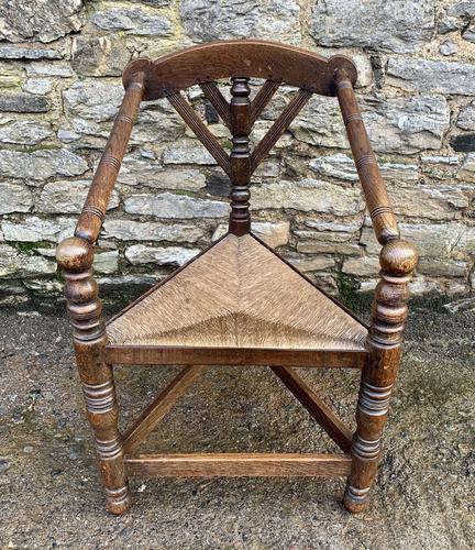 Antique Oak Turners Corner Chair (1 of 14)
