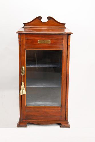 Edwardian Walnut Music Cabinet Dated 1910 (1 of 13)
