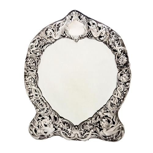 Antique Victorian Sterling Silver Dressing Table Mirror 1895 (1 of 10)
