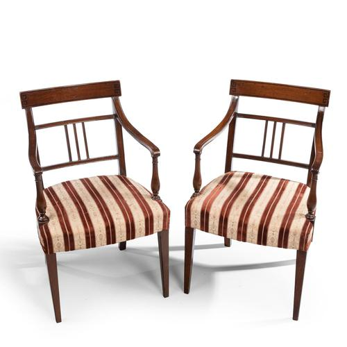 Attractive Pair of Late George III Period Elbow Chairs (1 of 4)