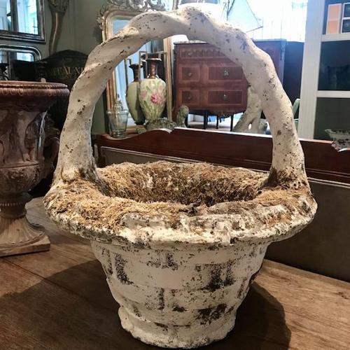 Large Basket Weave Planter (1 of 3)