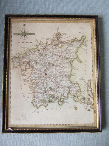 Late 18th Century Map of Worcestershire by John Cary (1 of 2)