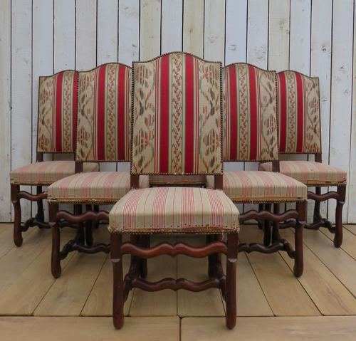 Set of Six French Oak Dining Chairs (1 of 9)
