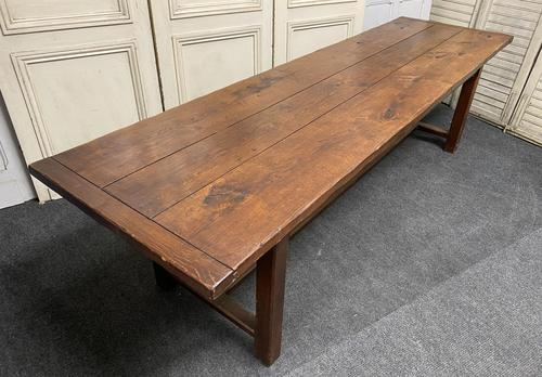 Long French Oak Farmhouse Dining Table (1 of 17)