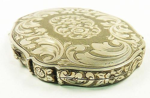 Continental Silver Loose Powder Compact 1950s (1 of 8)