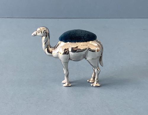 Antique Edwardian Silver Novelty Camel Pin Cushion (1 of 4)