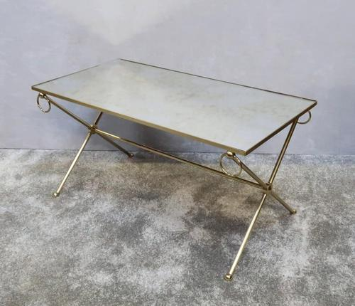French Mid Century Brass Coffee Table (1 of 6)