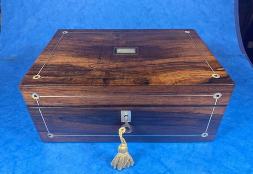 William IV Rosewood Jewellery Box (1 of 13)