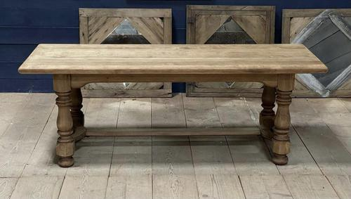 Deep Bleached Oak French Farmhouse Dining Table (1 of 20)