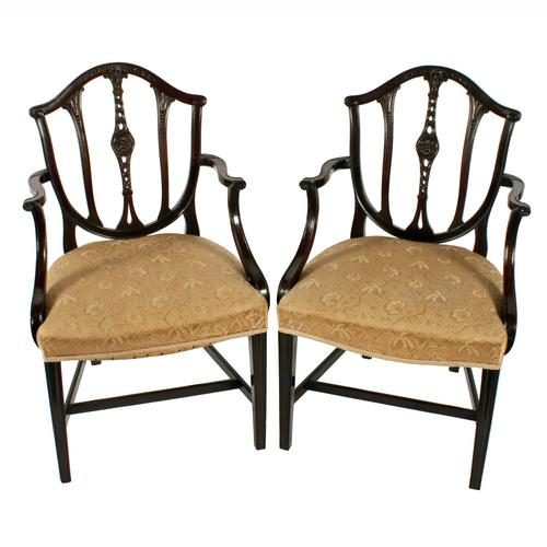 Pair of Hepplewhite Style Elbow Chairs (1 of 8)