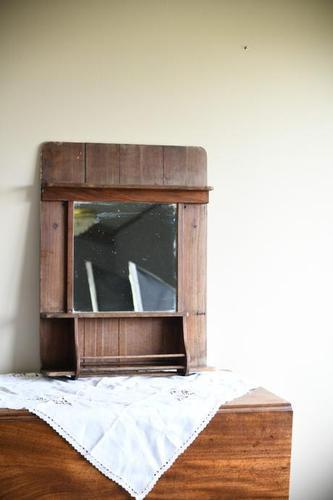 Single Rustic Pine Vanity Mirror (1 of 10)