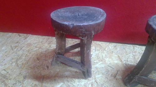 Pair of Rustic Folk Art Stools (1 of 5)