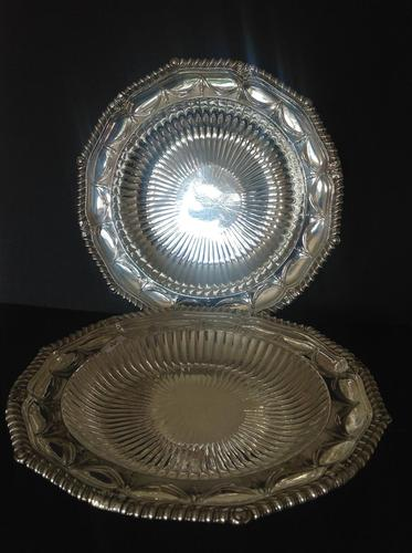 Pair of Paul Storr Antique Georgian Silver Dishes 1811 (1 of 12)