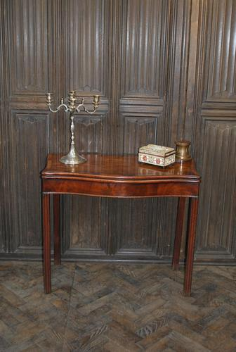 Chippendale Serpentine Mahogany Card Table (1 of 10)