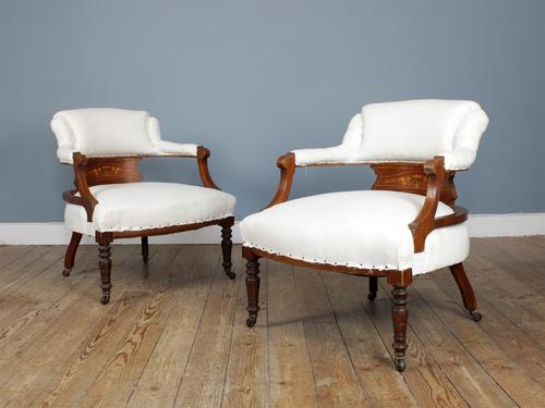 Pair of Edwardian Parlour Chairs (1 of 5)