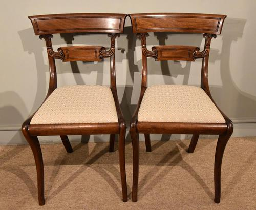 Pair of Regency Mahogany Side Chairs (1 of 7)