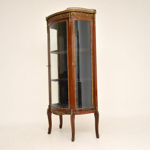 Antique French Mahogany & Marble Display Cabinet Vitrine (1 of 10)