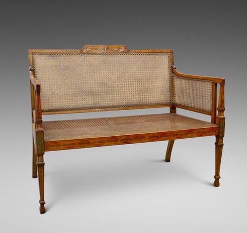 Fine 19th Century Satinwood Bergere Sofa (1 of 6)