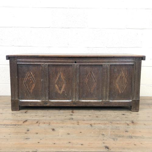 Antique Oak Panelled Coffer (1 of 8)