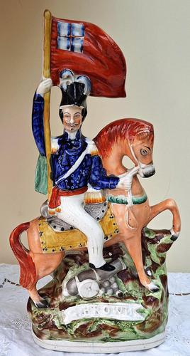 Antique English Victorian Staffordshire Pottery Portrait Figure ~ General Sir George Brown P C149 ~ H 51 P (1 of 5)