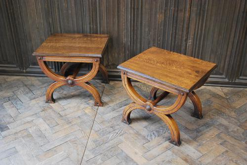 Pair of Oak Hall Benches (1 of 6)