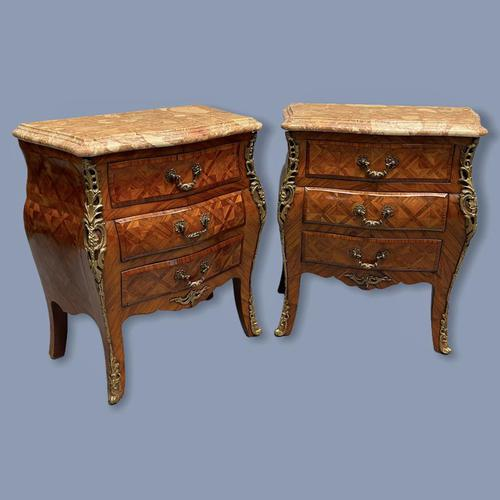 Pair of Italian Parquetry Bedside Commodes (1 of 8)
