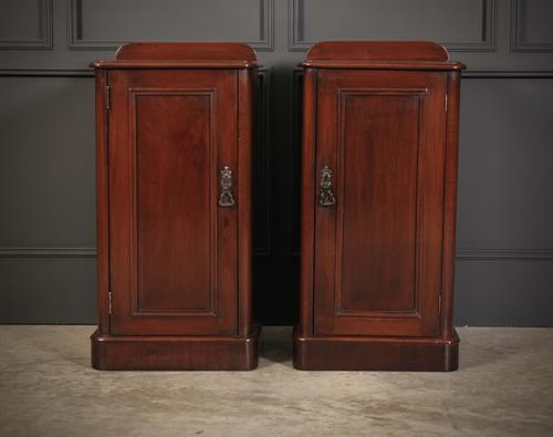 Pair of Victorian Mahogany Bedside Cabinets (1 of 12)