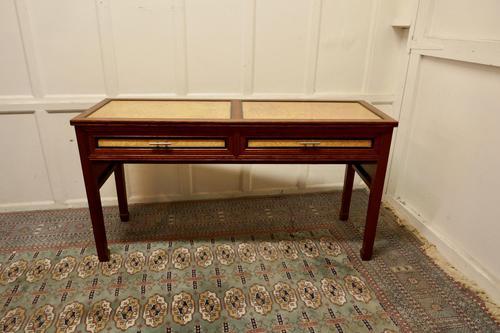 Art Deco Style Walnut & Maple Reception Desk (1 of 7)