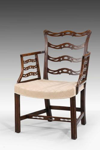 Late 19th Century Mahogany Frame Elbow Chair (1 of 5)