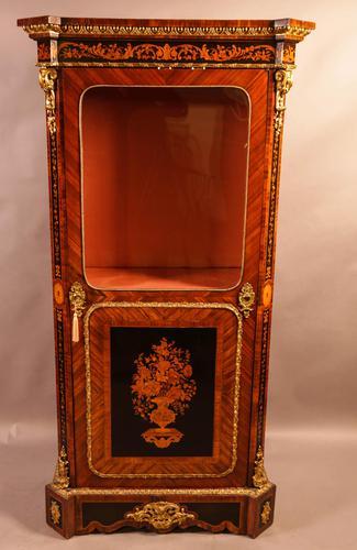 Superb French Display Cabinet Kingwood & Ebony (1 of 12)