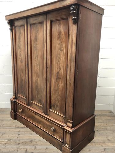 Large Victorian Mahogany Triple Compactum Wardrobe (1 of 11)