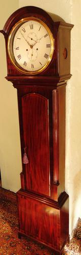 Scottish Georgian Mahogany Longcase Clock - Round Dial (1 of 10)