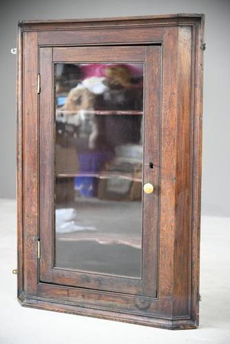 Rustic Oak Corner Cupboard (1 of 13)
